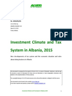 Investment Climate and Tax System in Albania, 2015