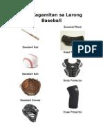 Mga Kagamitan Sa Larong Baseball