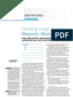 Handling Large DB Result Sets