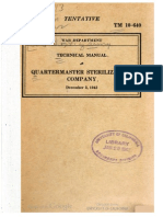 TM 10-640 Quartermaster Sterilization Company 1942