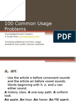 100 Common Usage Problems - Corrected