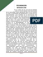 FECUNDACION - BIOLOGIA