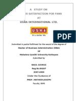 USHA Dealer Satisfaction