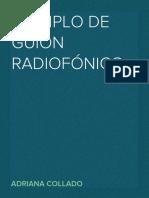 Ejemplo de guión radiofónico