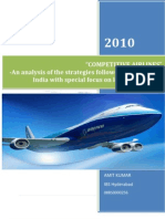 Competitive Airlines-An analysis of the strategies followed by airlines in India with special focus on low-cost airlines