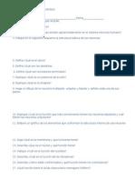 Cuestionarios, Guia de Estudio de La NEURONA