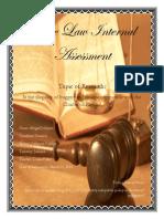 CAPE Law Internal Assessment