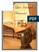 CAPE Law Internal Assessment