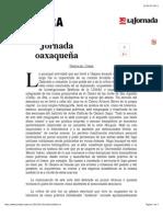 Jornada Oaxaqueña_Teresa Del Conde
