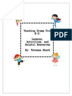 professional development project- teaching drama from k-3
