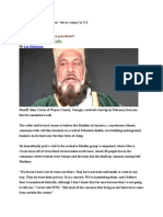 Sheriffs Sound Off on Islamic US Sleeper Cells