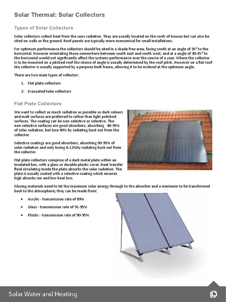 02 Solar Collectors   Solar Energy   Heat Transfer