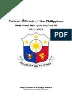 Cabinet Secretaries of Aquino III