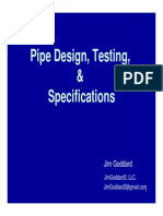 Pipe Design, Testing, & Specifications