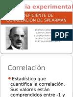 Coeficiente de Correlacion de Spearman