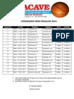 Calendario de Juegos Oficial 6to Torneo Baloncesto Carnavalesco Tobacave 2015