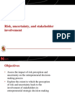 Lecture Slides-Risk, Uncertainty, And Stakeholder Involvement (Slides)