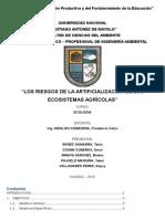 ARTIFICIALIZACION DE AGROECOSISTEMAS
