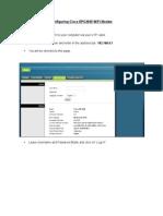 Configuring Docsis 3 WIFI Modems CISCO