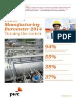 India Manufacturing Barometer 2014 Turning The Corner