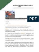 Se Desacelera El Comercio Exterior de México en 2013
