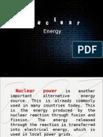 M.E nuclear energy