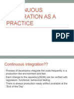 Continuous Integration as a Practice
