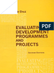 Evaluating Development Programmes and Projects