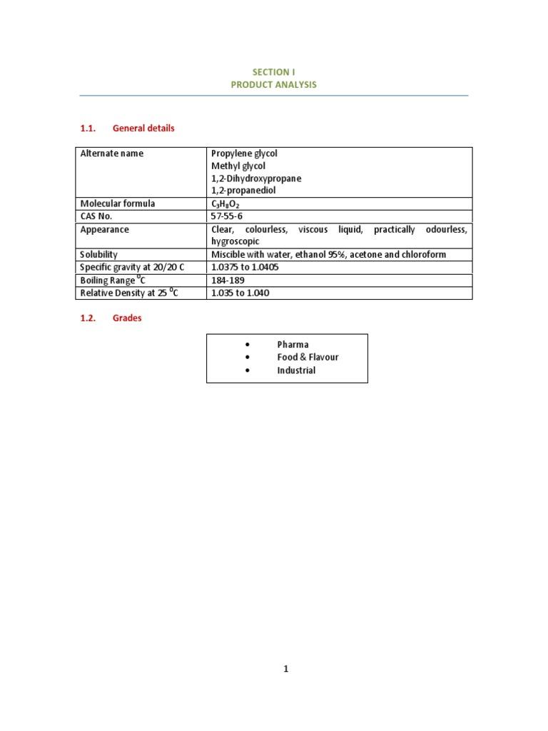 Propylene glycol pdf | Chemical Compounds | Chemical Substances