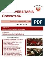 Nueva Ley Univeristaria Comentada PERUANA