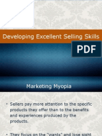 Developing Excellent Selling Skills