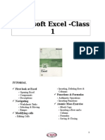 Excel Tutorial1