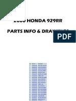 00-01 Honda CBR929RR Parts Book