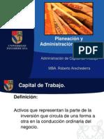Administración de Capital de Trabajo-Finanzas