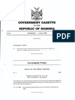 Territorial Sea and Exclusive Economic Zone of Namibia Act	No. 3 of 1990