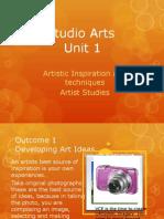 studio arts unit 1 artworks movement