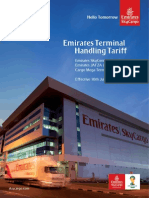 Emirates SkyCargo Revised Terminal Handling Tariff