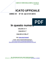 C.U. N.34 DEL21.01.2015
