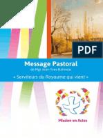 Message Pastoral MgrJYNahmias 2015