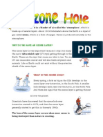 the ozone hole - self study