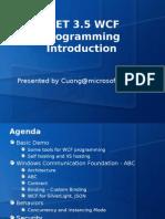 WCF.net Introduction