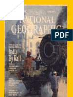 National Geographic June 1984 Magazine(by Rail Across the Indian Subcontinent)
