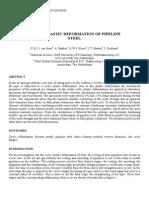Cyclic Plastic Deformation of Pipeline