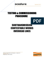 Commissioning Test Procedure Overhead Lines