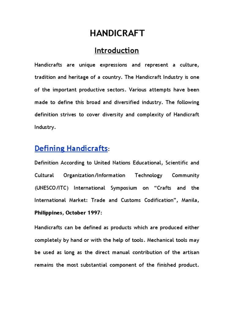Iar Handicraft Industries Economic Growth