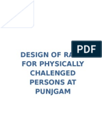 Design of Ramp for Physically Chalenged Persons at Punjgam