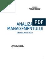 Analiza Managementului-2013 Final