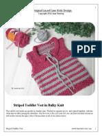 Free Striped Toddler Vest Size 3