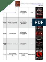 calendario metalcanario ABRIL - 2010
