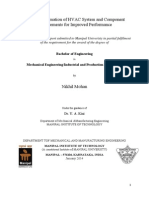 Study of Automation of HVAC System and Component Improvements for Improved Performance